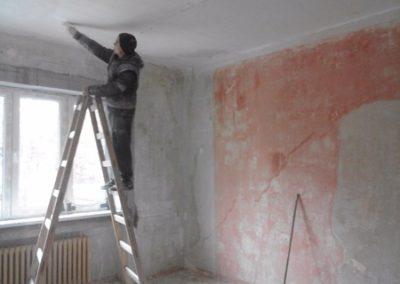 škrábání malby