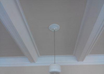 pohled na vymalovaný strop zámeckého sálu