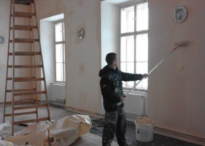 průběh malování zámeckého sálu